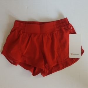 "Lululemon Hotty Hot Short LR 2.5"" Dark Red 6"